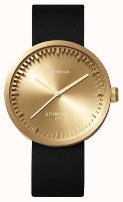 Leff Amsterdam Tube watch d38黄铜表壳黑色皮表带 LT71021