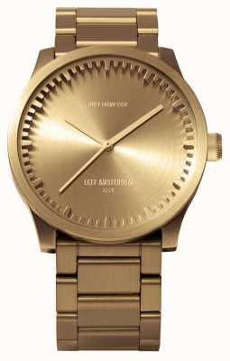 Leff Amsterdam Tube watch s42黄铜表壳黄铜表链 LT72103