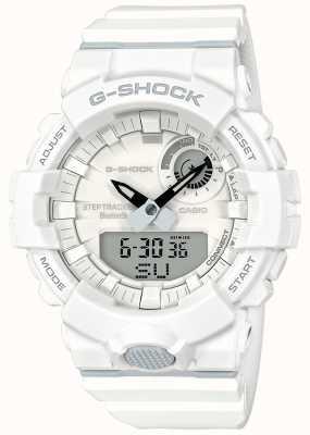 Casio G-shock蓝牙健身步跟踪器白色表带 GBA-800-7AER