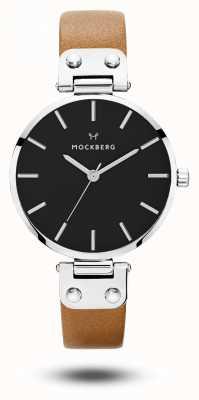 Mockberg 女士Wera黑色棕色表带黑色表盘 MO112