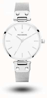 Mockberg Elise不锈钢网状手链白色表盘 MO1602