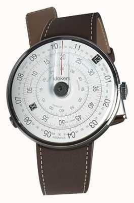 Klokers Klok 01黑色手表头巧克力棕色单肩带 KLOK-01-D2+KLINK-01-MC4