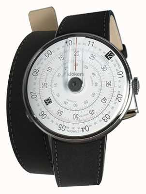 Klokers Klok 01黑色手表头垫黑色420mm双肩带 KLOK-01-D2+KLINK-02-420C2