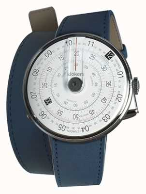 Klokers Klok 01黑色手表头靛蓝色420mm双表带 KLOK-01-D2+KLINK-02-420C3
