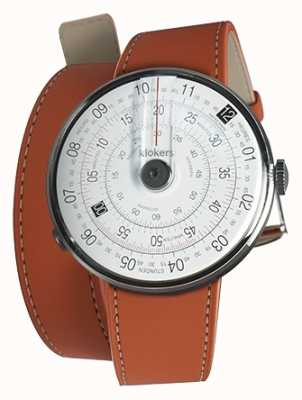 Klokers Klok 01黑色手表头橙色420mm双肩带 KLOK-01-D2+KLINK-02-420C8