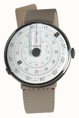 Klokers Klok 01黑色手表头grege strait单肩带 KLOK-01-D2+KLINK-04-LC9