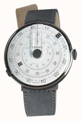 Klokers Klok 01黑色手表头灰色alcantara海峡单带 KLOK-01-D2+KLINK-04-LC11