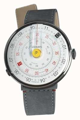 Klokers Klok 01黄色手表头灰色alcantara海峡单带 KLOK-01-D1+KLINK-04-LC11
