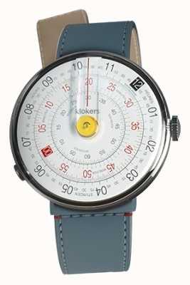 Klokers Klok 01黄色手表头蓝色牛仔裤海峡单带 KLOK-01-D1+KLINK-04-LC10