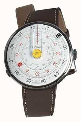 Klokers Klok 01黄色手表头巧克力棕色单肩带 KLOK-01-D1+KLINK-01-MC4