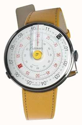 Klokers Klok 01黄色手表头纽波特黄色单表带 KLOK-01-D1+KLINK-01-MC7.1