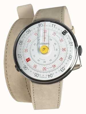 Klokers Klok 01黄色手表头灰色alcantara双肩带 KLOK-01-D1+KLINK-02-380C6