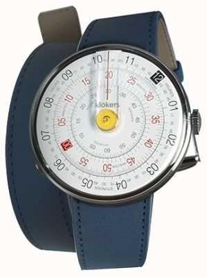 Klokers Klok 01黄色手表头靛蓝色420mm双肩带 KLOK-01-D1+KLINK-02-420C3