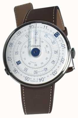 Klokers Klok 01蓝色手表头巧克力棕色单肩带 KLOK-01-D4.1+KLINK-01-MC4