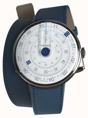 Klokers Klok 01蓝色手表头靛蓝蓝双表带 KLOK-01-D4.1+KLINK-02-380C3