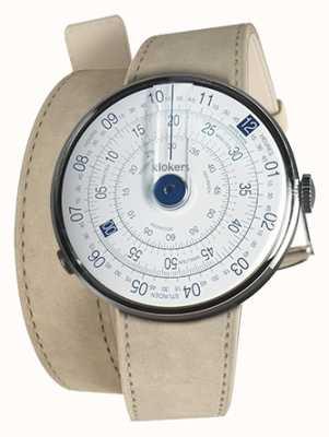 Klokers Klok 01蓝色手表头灰色alcantara双肩带 KLOK-01-D4.1+KLINK-02-380C6