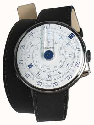 Klokers Klok 01蓝色手表头垫黑色420mm双肩带 KLOK-01-D4.1+KLINK-02-420C2