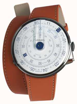 Klokers Klok 01蓝色手表头橙色420mm双肩带 KLOK-01-D4.1+KLINK-02-420C8