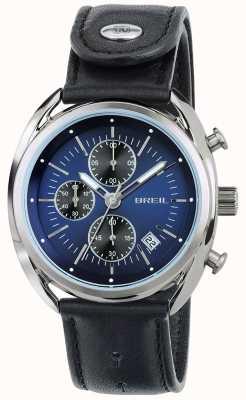 Breil Beaubourg不锈钢计时码表蓝色表盘黑色表带 TW1528