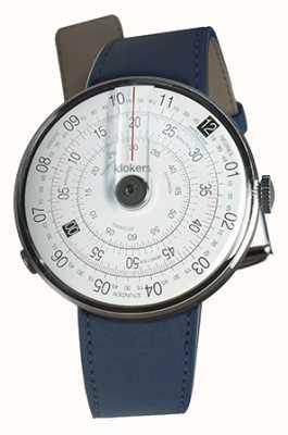 Klokers Klok 01黑色手表头靛蓝蓝色单肩带 KLOK-01-D2+KLINK-01-MC3