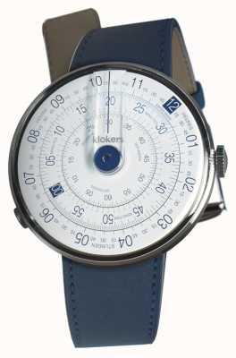 Klokers Klok 01蓝色手表头靛蓝色单肩带 KLOK-01-D4.1+KLINK-01-MC3