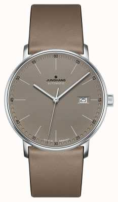 Junghans 形成自动棕色皮革表带手表 027/4832.00