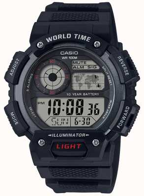 Casio 经典世界时间闹钟chronograp AE-1400WH-1AVEF