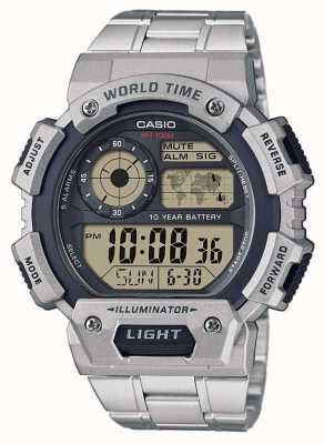 Casio 世界时间报警计时码表 AE-1400WHD-1AVEF