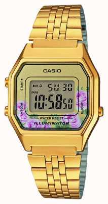 Casio 照明器镀金pvd镀花印花表盘 LA680WEGA-4CEF