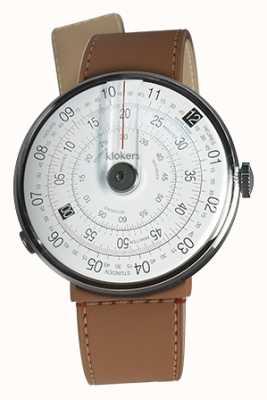 Klokers Klok 01黑色手表头焦糖棕色海峡单带 KLOK-01-D2+KLINK-04-LC12