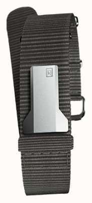Klokers Klink 03黑色纺织单肩带只有20mm宽230mm KLINK-03-MC3