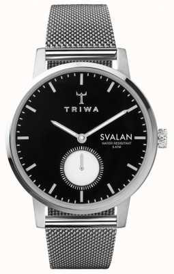 Triwa 乌木svalan黑拨号不锈钢网手链 SVST103-MS121212