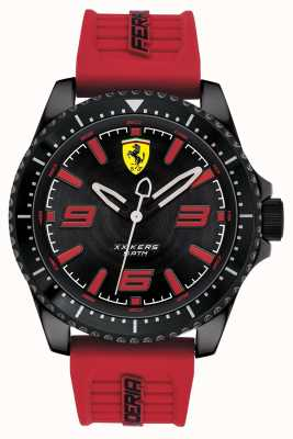 Scuderia Ferrari Xx kers黑色表盘红色橡胶表带 0830498