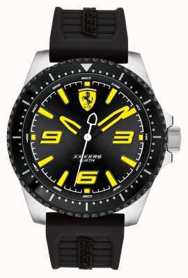 Scuderia Ferrari Xx kers黑色表盘黑色ip涂层表壳黑色橡胶表带 0830487