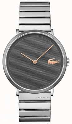 Lacoste 月亮灰色表盘不锈钢表壳和表链 2010954