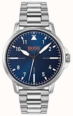 Hugo Boss Orange 蓝色表盘不锈钢表链 1550063