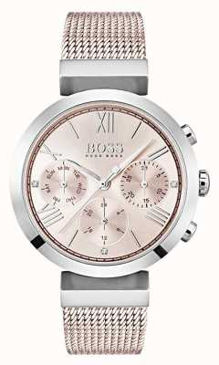 Hugo Boss 计时码表粉红拨号日期和日期子拨号 1502426