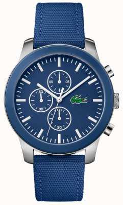 Lacoste 男士12.12计时蓝色表盘蓝色尼龙表带 2010945