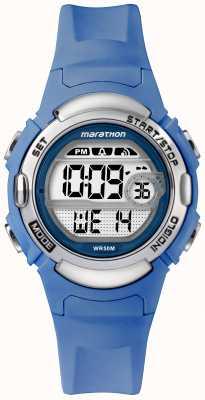 Timex 马拉松数字运动手表浅蓝色表带 TW5M14400