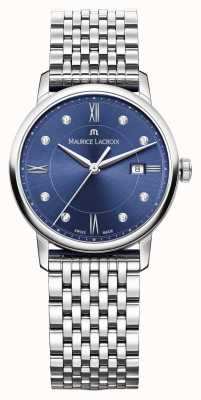 Maurice Lacroix 女装eliros不锈钢蓝色表盘 EL1094-SS002-450-1