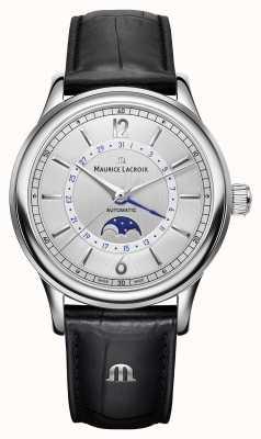 Maurice Lacroix Les classiques男士月相黑色皮革表带 LC6168-SS001-120-1