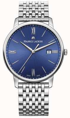 Maurice Lacroix Eliros男士蓝色表盘不锈钢表链 EL1118-SS002-410-2