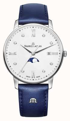 Maurice Lacroix Eliros月相蓝色真皮表带银色表盘 EL1096-SS001-150-1
