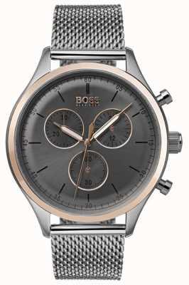 Hugo Boss 男士伴侣计时腕表灰色 1513549
