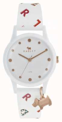 Radley 女性信件看白色硅树脂 RY2602