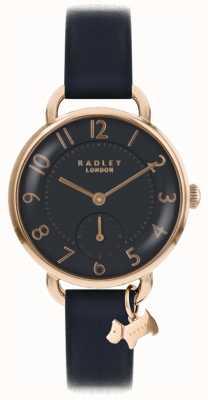 Radley 女装southwark公园手表黑色皮革表带 RY2548