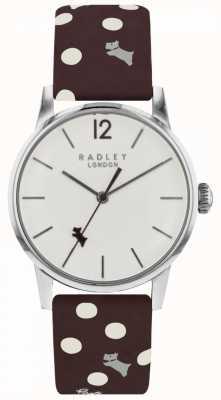 Radley 女装复古狗圆点手表白色表盘 RY2565