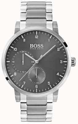 Hugo Boss 男士氧气灰色手表不锈钢手链sunray表盘 1513596