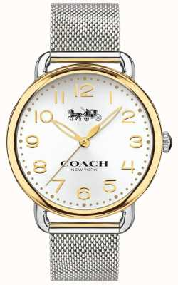 Coach 女士delancey不锈钢网状手镯金色表壳 14502802