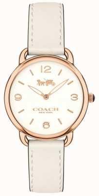 Coach 女装delancey超薄白色真皮表带白色表盘 14502790